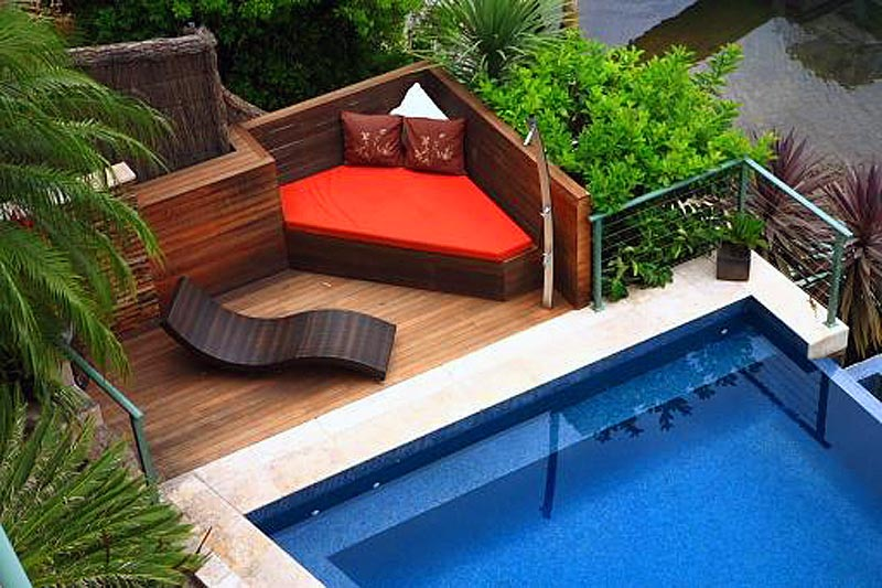 Magnificent decking area